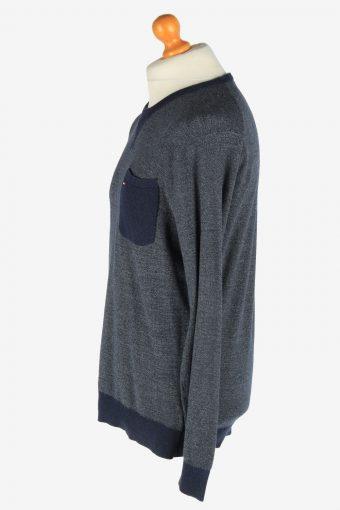 Tommy Hilfiger Crew Neck Jumper Pullover Vintage Size L Navy -IL2544-162299