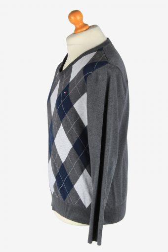 Tommy Hilfiger V Neck Jumper Pullover Vintage Size M Multi -IL2547-162311