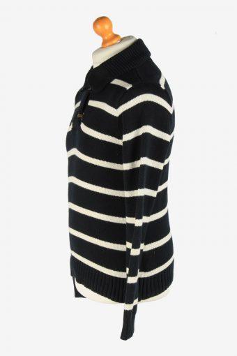 Polo Ralph Lauren Hook Neck Jumper Pullover Vintage Size L Black -IL2550-162323