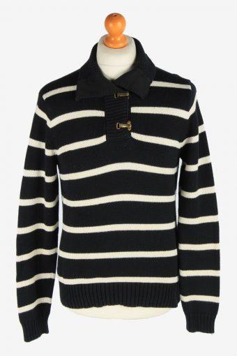 Polo Ralph Lauren Hook Neck Jumper Pullover 90s Women Black L