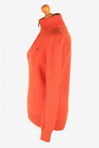 Polo Ralph Lauren Zip Neck Jumper Pullover Vintage Size XL Orange -IL2551-162327