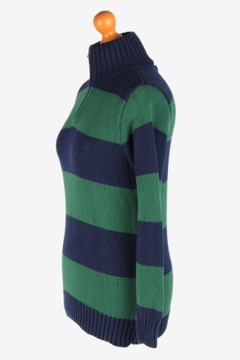 Chaps Zip Neck Jumper Pullover Vintage Size XL Navy -IL2552-162331
