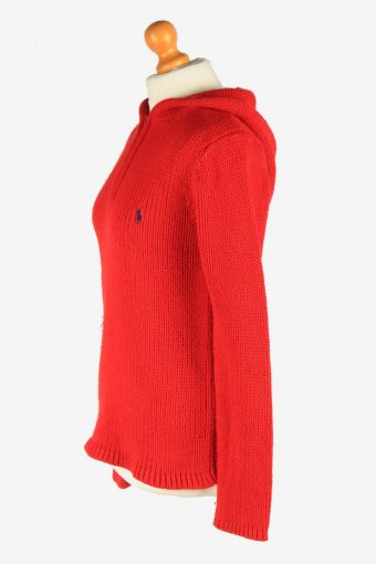 Polo Ralph Lauren Half Zip Neck Jumper Pullover Vintage Size M Red -IL2553-162335