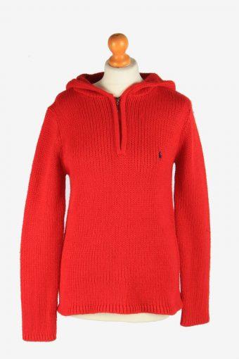 Polo Ralph Lauren Half Zip Neck Jumper Pullover 90s Women Red M