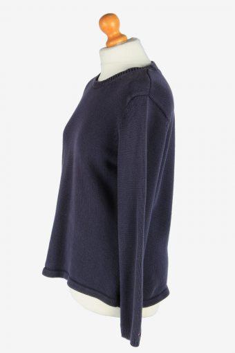 Tommy Hilfiger Crew Neck Jumper Pullover Vintage Size L Navy -IL2554-161671