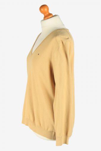 Tommy Hilfiger V Neck Jumper Pullover Vintage Size XXL Coffee -IL2557-162351