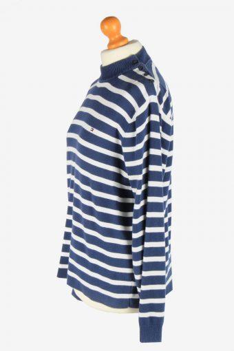 Tommy Hilfiger Crew Neck Jumper Pullover Vintage Size M Navy -IL2559-162359