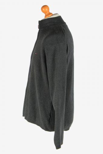 Tommy Hilfiger Zip Up Cardigan Vintage Size XL Dark Grey -IL2562-161703