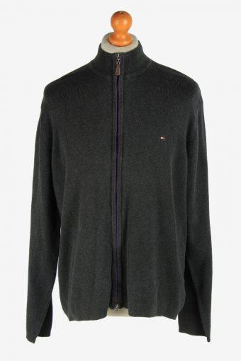 Tommy Hilfiger Zip Up Cardigan 90s Dark Grey XL