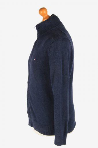 Tommy Hilfiger Zip Up Cardigan Vintage Size M Navy -IL2564-162379