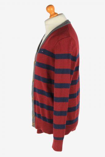 Tommy Hilfiger Full Button Cardigan Vintage Size L Maroon -IL2572-162407