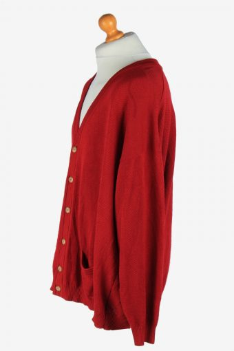 Burberry Full Button Cardigan Vintage Size XXXL Maroon -IL2573-162411