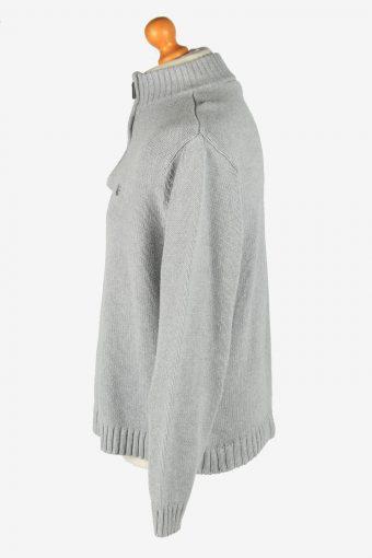 Chaps Zip Neck Jumper Pullover Vintage Size L Grey -IL2395-160990