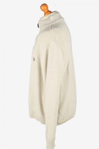 Chaps Zip Neck Jumper Pullover Vintage Size XXL Beige -IL2399-161006