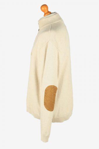 Chaps Button Neck Jumper Pullover Vintage Size XL Beige -IL2401-161014