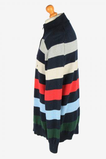 Nautica Zip Neck Jumper Pullover Vintage Size XL Colared -IL2407-161038