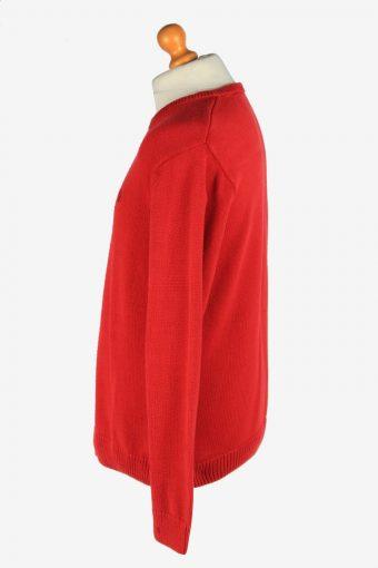 Chaps Crew Neck Jumper Pullover Vintage Size L Red -IL2418-161082