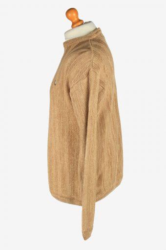 Chaps Crew Neck Jumper Pullover Vintage Size L Coffee -IL2420-161090
