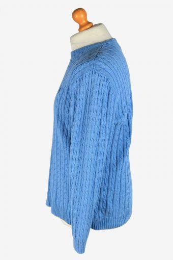 Chaps Crew Neck Jumper Pullover Vintage Size M Blue -IL2422-161098