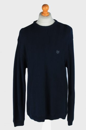Chaps Crew Neck Jumper Pullover 90s Navy L