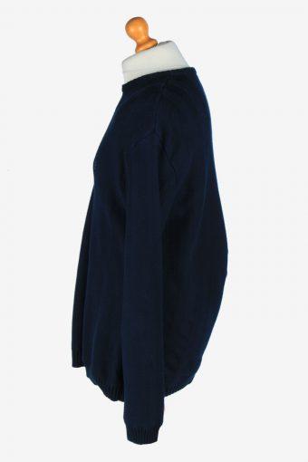 Chaps Crew Neck Jumper Pullover Vintage Size L Navy -IL2424-161106