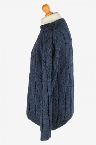 Chaps Crew Neck Jumper Pullover Vintage Size L Blue -IL2429-161126