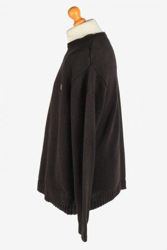Chaps Crew Neck Jumper Pullover Vintage Size XL Black -IL2432-161138