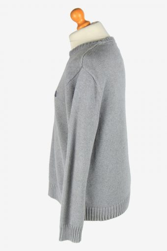 Chaps Crew Neck Jumper Pullover Vintage Size L Grey -IL2433-161142