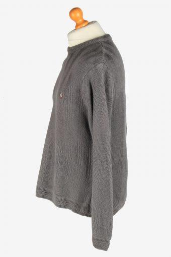 Chaps Crew Neck Jumper Pullover Vintage Size M Dark Grey -IL2434-161146