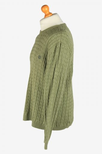 Chaps Crew Neck Jumper Pullover Vintage Size XL Green -IL2436-161154