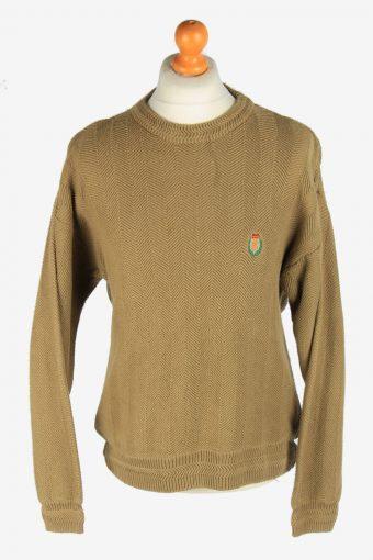 Chaps Crew Neck Jumper Pullover 90s Khaki L