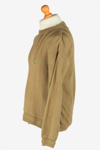 Chaps Crew Neck Jumper Pullover Vintage Size L Khaki -IL2438-161162