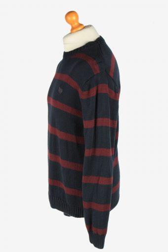 Chaps Crew Neck Jumper Pullover Vintage Size M Navy -IL2439-161166