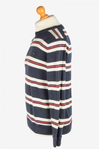 Tommy Hilfiger Crew Neck Jumper Pullover Vintage Size M Striped -IL2442-161178