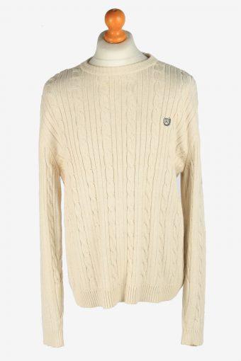 Chaps Crew Neck Jumper Pullover 90s Beige L