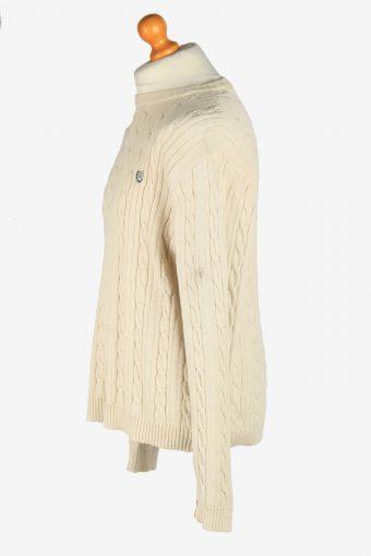 Chaps Crew Neck Jumper Pullover Vintage Size L Beige -IL2443-161182