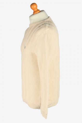 Chaps Crew Neck Jumper Pullover Vintage Size M Beige -IL2444-161186