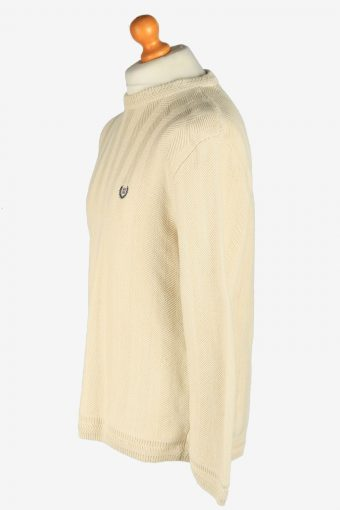 Chaps Crew Neck Jumper Pullover Vintage Size L Beige -IL2445-161190