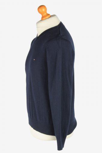Tommy Hilfiger V Neck Jumper Pullover Vintage Size S Navy -IL2450-161210