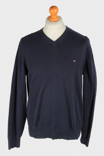 Tommy Hilfiger V Neck Jumper Pullover 90s Navy L