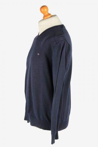 Tommy Hilfiger V Neck Jumper Pullover Vintage Size L Navy -IL2451-161214