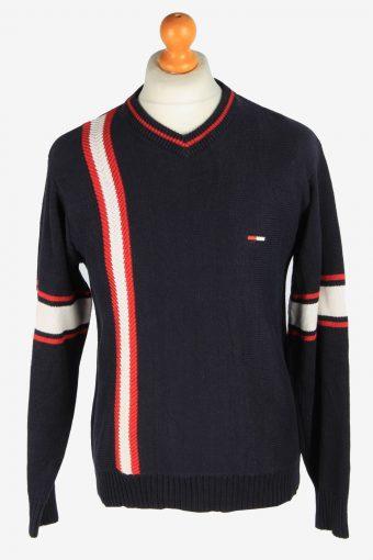Tommy Hilfiger V Neck Jumper Pullover 90s Navy M