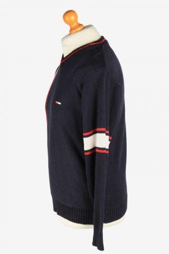 Tommy Hilfiger V Neck Jumper Pullover Vintage Size M Navy -IL2452-161218