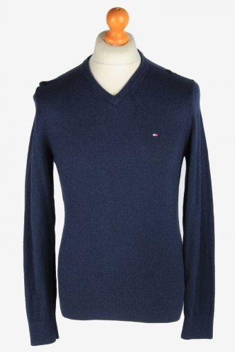 Tommy Hilfiger V Neck Jumper Pullover 90s Navy S