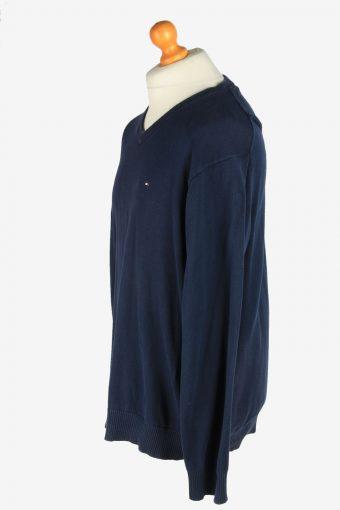 Tommy Hilfiger V Neck Jumper Pullover Vintage Size XL Navy -IL2454-161226