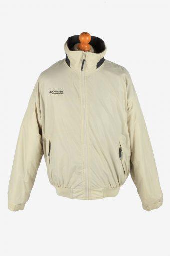 Columbia Men's Jacket Polar Lined Outdoor Vintage Size L Beige C2849