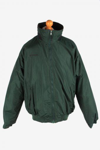 Columbia Men's Jacket Polar Lined Lightweight Vintage Size L Dark Green C2851