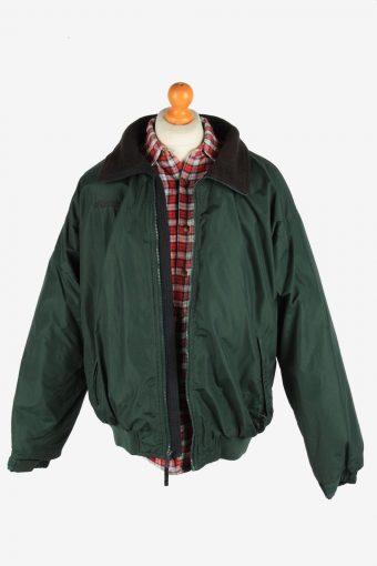 Columbia Men's Jacket Polar Lined Lightweight Vintage Size L Dark Green C2851-160414