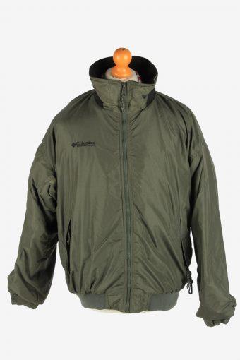 Columbia Men's Waterproof Jacket Lightweight Vintage Size L Green C2852