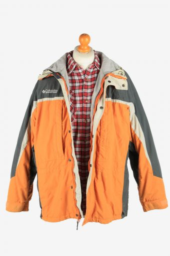 Columbia Men's Waterproof Jacket Polar Lined Vintage Size L Multi C2854-160432